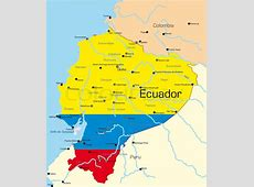 Abstract vector color map of Ecuador country colored by