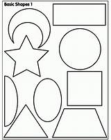 Coloring Shapes Preschool Pages sketch template