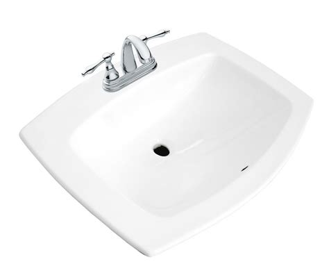 drop in bathroom sinks canada glacier bay galla rectangular drop in bathroom sink the
