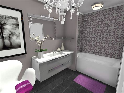 White Bathroom With Color Accents by Bathroom Ideas Roomsketcher