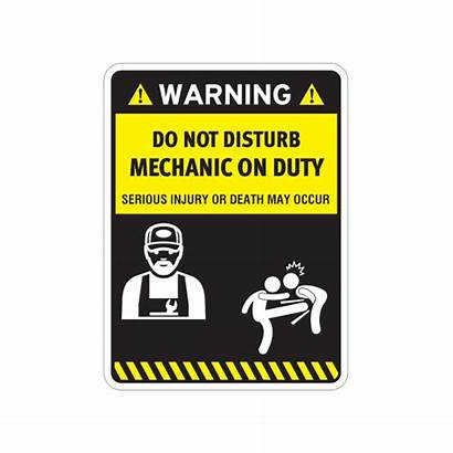Funny Disturb Mechanic Duty Stickers Sticker Factory