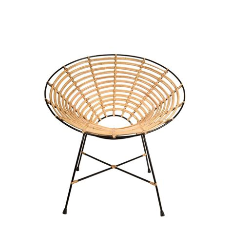 fauteuil rond m 233 tal et rotin kubu