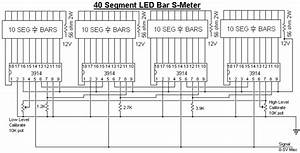 wiring schematic diagram guide 40 segment led s meter With led 1 connected to pin 2 led 2 to pin 3 led 3 to pin 4 the r1 r2 r3