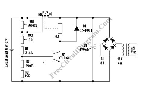 Automatic Lead Acid Battery Charger Circuit