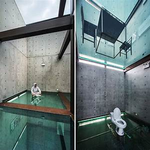 Concrete Tower House With See