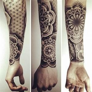 Mandala Tattoo Unterarm : mandala tattoos for men ideas and designs for guys ~ Frokenaadalensverden.com Haus und Dekorationen