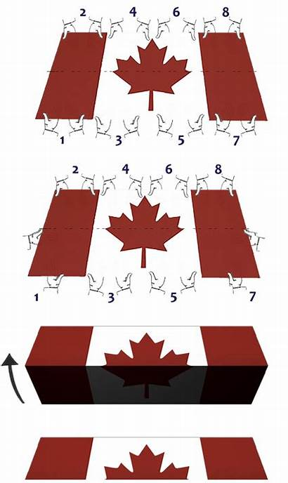 Flag Canada Folding Fold National Ceremonial Half