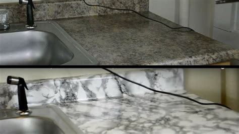 diy kitchen countertop makeover  contact paper hd