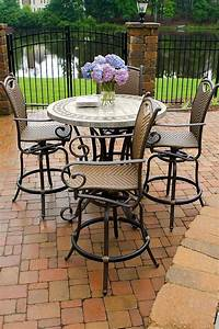 High top patio table and chairs marceladickcom for High top patio table sets