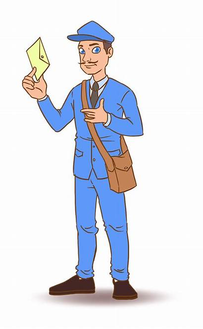 Postman Clipart Mailman Cliparts Clip Mail Funny