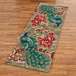 Peacock Flora Wool Rug Runner