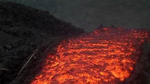 Real Footage Lava Flowing