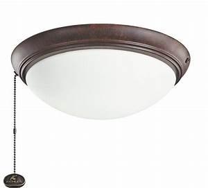 Kichler tz tannery bronze led ceiling fan light