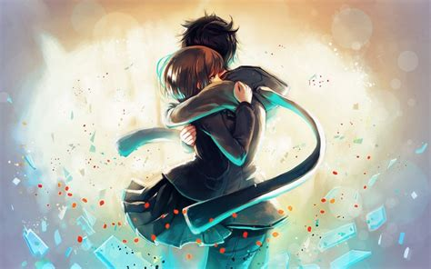 Anime Girl Boy Hug Love Wallpapers  1280x800 258541