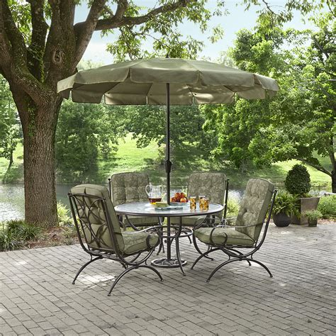 Jaclyn Smith Patio Furniture Cora by Jaclyn Smith Cora Dining Table With Lazy Susan Outdoor