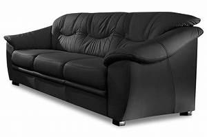 Couch Mit Federkern : leder 3er sofa savona schwarz mit federkern sofas zum ~ Michelbontemps.com Haus und Dekorationen