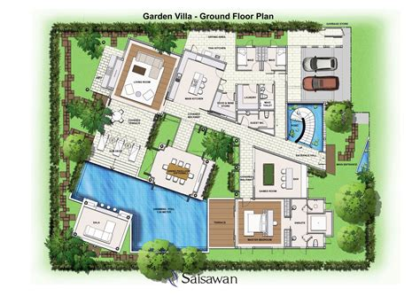 Villa Home Plans by Saisawan Garden Villas Ground Floor Plan House Plans