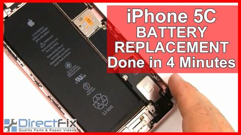 how to replace iphone 5c battery how to iphone 5c battery replacement shown in 4 minutes how t