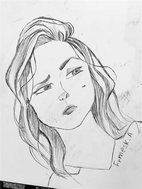 Pin by Frmesk Ahmad on Drawings | Sketches, Drawings, Female sketch