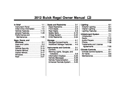 service repair manual free download 2012 buick regal head up display 2012 buick regal owners manual just give me the damn manual