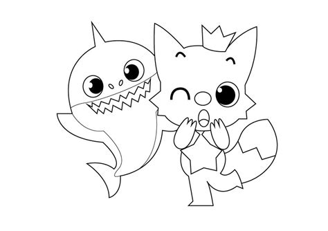 amazing baby shark pages coloring pages otvod