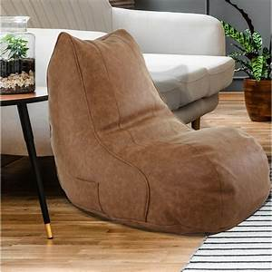 Ebern, Designs, Small, Faux, Leather, Bean, Bag, Chair, U0026, Lounger