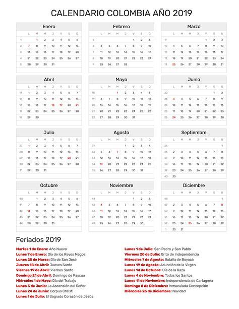 calendario febrero colombia festivos