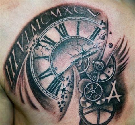 simple clock tattoos
