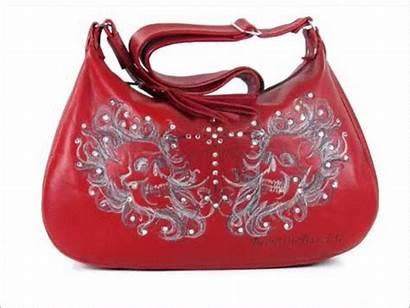 Handbag Hobo Skulls Leather Embroidered Bag