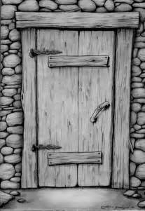 Old Door Drawing
