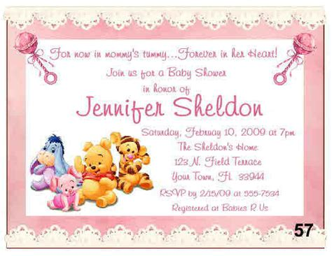 winnie the pooh baby shower invitations 20 baby winnie the pooh baby shower invitations ebay