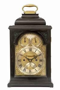 A, Small, English, Ebonised, Table, Clock, James, Wittit, London, Circa, 1740