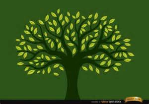 green tree with yellow leaves vector free