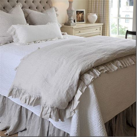 shabby chic white ruffle bedding ruffle linen duvet cover features easy flow ruffles shabby chic bedding linen bedding