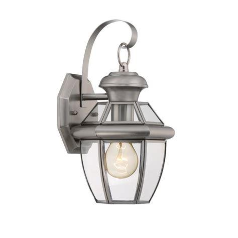shop portfolio brayden 12 in h pewter outdoor wall light