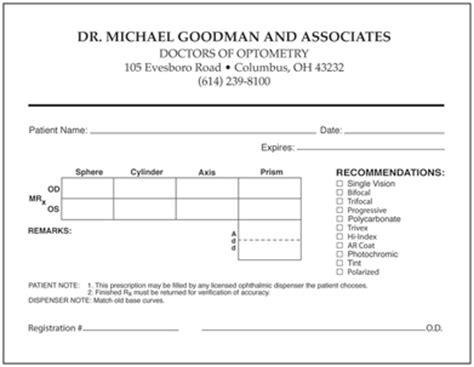 eye prescription form glasses prescription form pdf les baux de provence