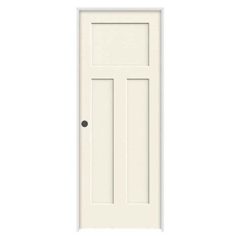 jeld wen interior doors jeld wen 24 in x 80 in craftsman vanilla painted right