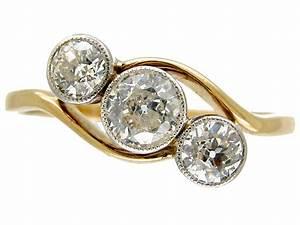 Art Nouveau Three Stone Diamond Twist Ring The Antique