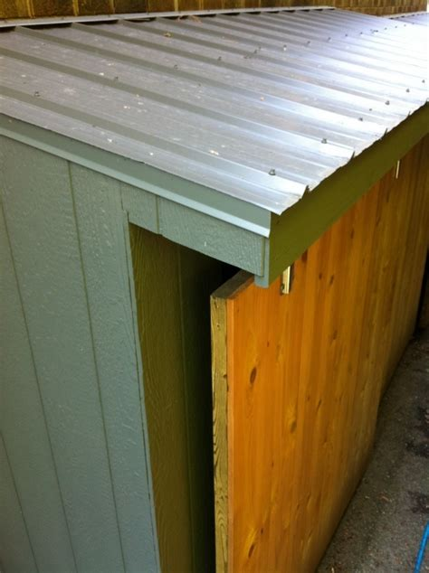 Cedar Shed with Metal Roof