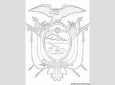 Escudo de Ecuador para colorear e imprimir Dibujos para