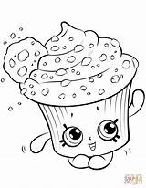 Shopkin Cookie Cupcake Creamy Coloring Shopkins Donut Desenhos Kawaii Kleurplaat Draw Colorir Kleurplaten Dibujos Bolo Printable Ausmalen Zum Printen Muffin sketch template