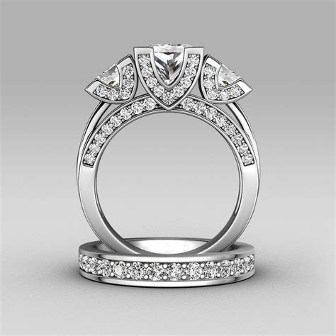 princess cut diamonique cz 925 silver wedding ring engagement band size 5 11 ebay