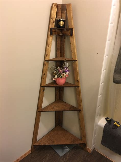 diy bathroom corner ladder shelf houses repisas