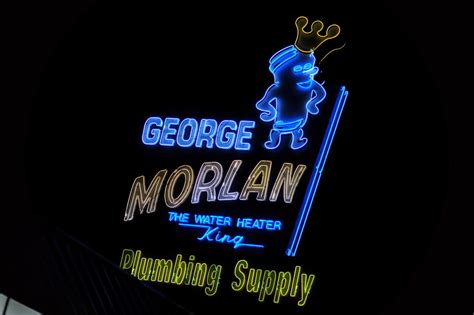 george morlan plumbing portland s past glows on with vintage neon signs
