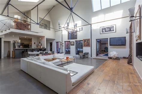 cuisine salle a manger ouverte gentilly ancien garage automobile réhabilité en loft avec piscine agence ea