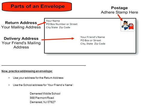 how to address an envelope with a po box how to address a letter with a po box shows the