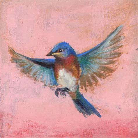 3 wallpapers, 3wallpapers, fond d'ecran. Bluebird at ArtfullyWalls | Blue bird art, Birds painting, Blue bird
