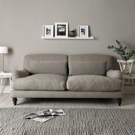 Contemporary Sofa Company by Petersham Sofa Wool Light Grey The White Company