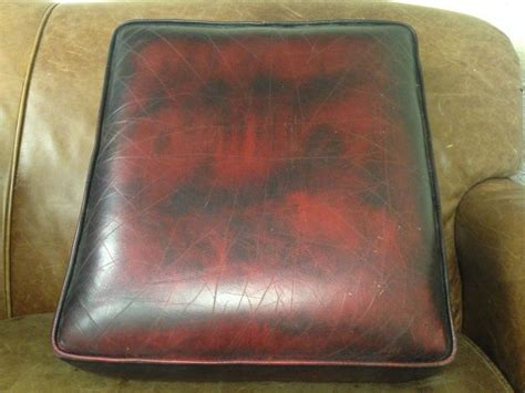 original spare chesterfield seat cushion in oxblood