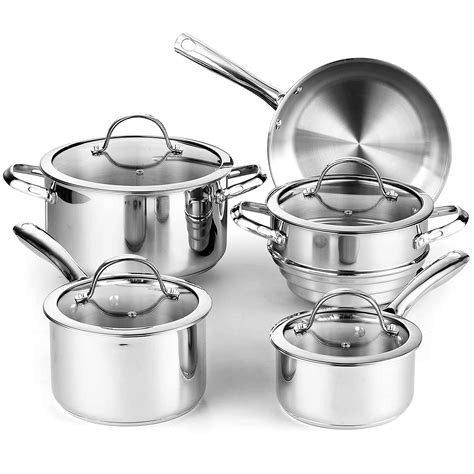 cookware gas stainless steel stoves cooks sets kitchen ceramic standard piece classic